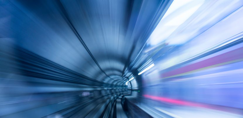 long exposure in a metro tunnel